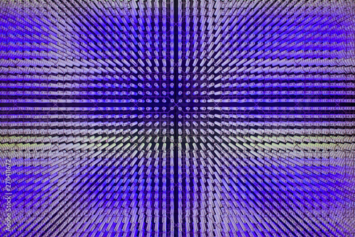 Spoed Foto op Canvas Psychedelic Purple Led lamps.