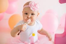 Smash Cake Pink For Girl