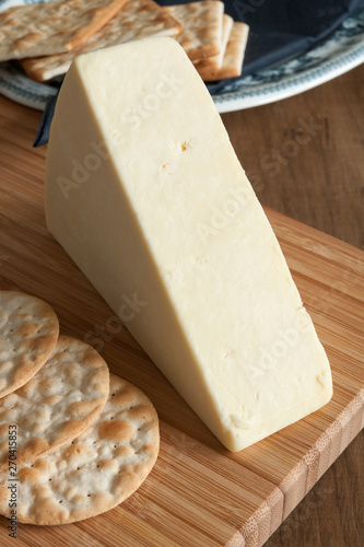 Wensleydale a traditional creamy and crumbly British cheese