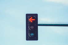 A Street Light Signal Showing ...