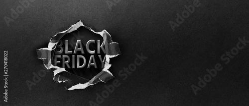 Obraz Restrained elegance banner for sales on Black Friday. Rectangular banner. Sale poster of black friday. Design home page sliders for black friday sales on red background. 3D - fototapety do salonu
