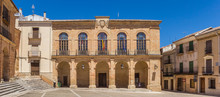 Panorama Of The Historic Town Hall Of Alcaraz, Spain