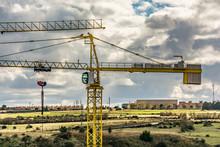 Cabin Crane On A Construction Site