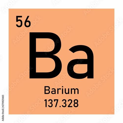 Photo Barium chemical symbol