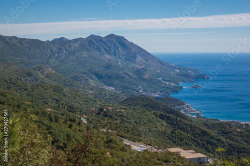 Poster Afrique du Sud Adriatic coast near Budva, Montenegro