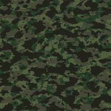 Colorful Camouflage Seamless Pattern. Abstract Vector Military Background.