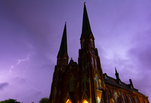 Lightning Over The Church