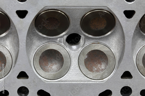 Car servicing, engine head repairing - Buy this stock photo