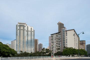 Fototapeta na wymiar ハワイの都市風景