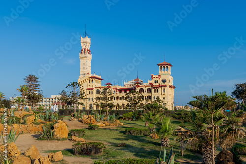 Photo Day shot of the Royal palace at Montaza public park, Alexandria, Egypt