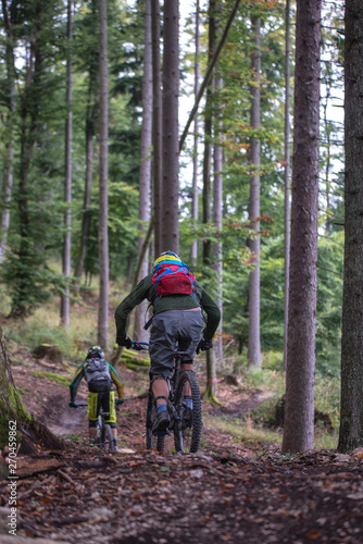 Acrylic Prints Horseback riding mountain bike