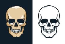Skull In Retro Vintage Style. ...