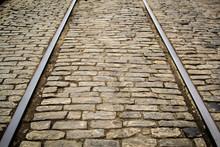 Tram Tracks In Historical Bric...