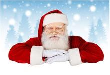 Portrait Of Santa Claus On Christmas Background