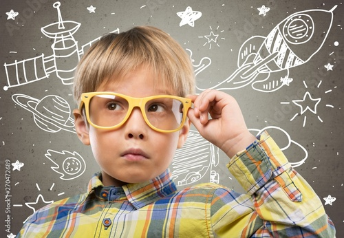 Photo  Imagine kid curious space create child home