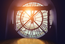 Sun Shines Through Giant Clock