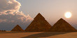 canvas print picture Giza Plateau - The Great Pyramid of Egypt is the Pharaoh Khufu's tomb and is located near Cairo on the Giza Plateau.