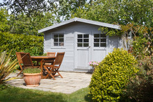 Shed With Terrace And Wooden G...