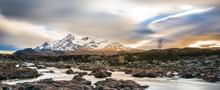 Isle Of Skye - Cuillin Mountains In Winter Scenery Seen From Sligachan
