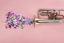 Colorful Confetti With Trumpet...