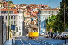 Tram On Line 28 In Lisbon, Portugal