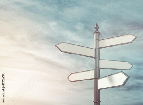 Signpost. Fototapeta