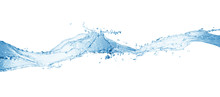 Water Splash,water Splash Isolated On White Background,blue Water Splash,