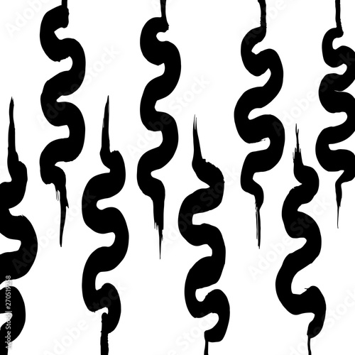 Fototapety, obrazy: Brush grunge pattern. White and black vector.
