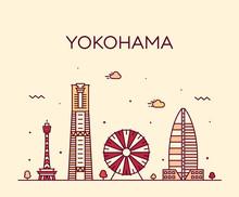 Yokohama Skyline, Japan Trendy...