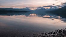 Sunrise At McDonald Lake In Gl...