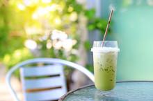 Iced Green Tea Matcha Latte Wi...