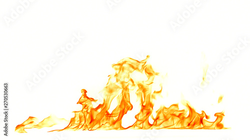 Canvas Prints Fire / Flame Fire flames isolated on white background.