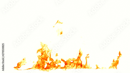 Photo sur Toile Feu, Flamme Fire flames isolated on white background.