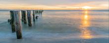 Coastal Dreams With Old Pier Near Naples In Florida