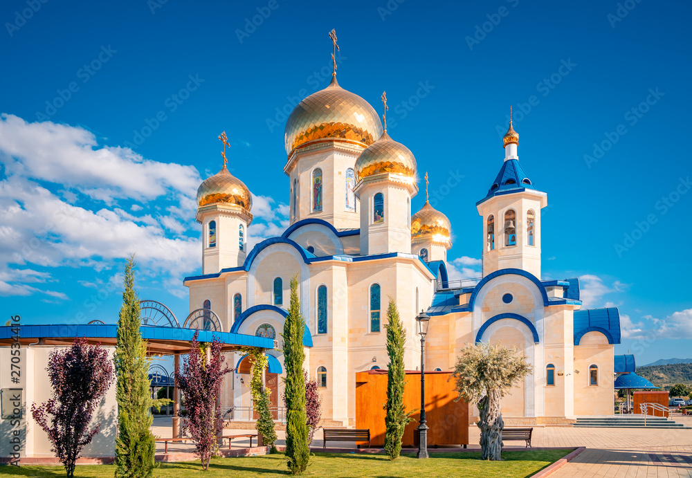 Fototapety, obrazy: Russian style orthodox church dedicated to Saint Andrew at the village Episkopio of in Cyprus