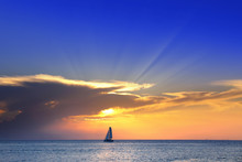 Colorful Seascape Image With S...