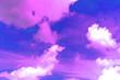 Leinwandbild Motiv Copy space summer blue sky and white cloud abstract background.