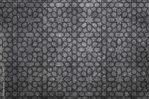 Photo oriental pattern bnackgorund, geometric morocco design