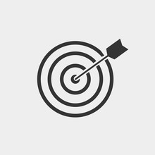 Target Arrow Vector Icon Illustration Sign
