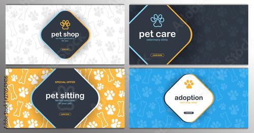 Obraz na plátně Pet shop, Care, Pet sitting