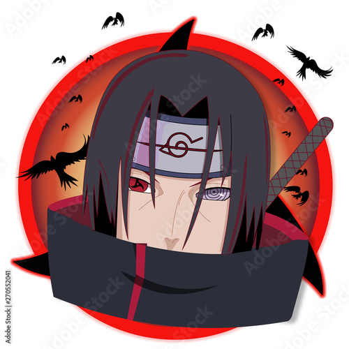 Itachi Uchicha Character Illustration Wallpaper Mural