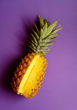 Pineapple On Deep Purple Pink ...