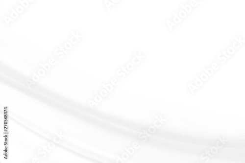 Fototapety, obrazy: White cloth background abstract with soft waves, white fabric texture.