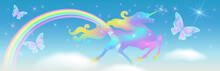 Rainbow In The Sky And Gallopi...