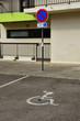 Leinwanddruck Bild Les Mureaux; France - may 8 2018 : handicapped parking