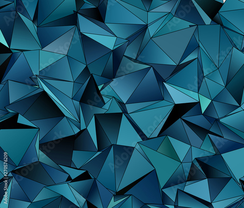 Foto op Aluminium ZigZag Abstract Low-Poly background. triangulated texture. Design 3d. Polygonal geometrical pattern. Triangular modern style