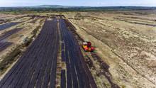Aerial View Machinery Harvesti...