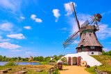 Colorful windmill , Gifhorn in Summer
