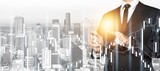 Business assistance businessman career cityscape design double - 270588827