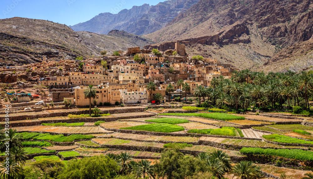 Fototapeta Omani village in the mountains